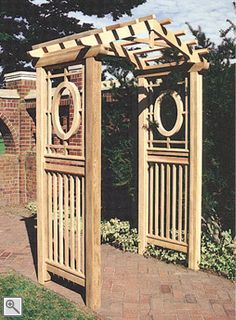 Our New Cottage Arbor, with pergola-style or peaked arches, is versatile, architectural enhancement for your entryway or garden. Garden Archway, Garden Entrance, Garden Arbor, Garden Trellis, Lawn And Garden, Backyard Retreat, Backyard Pergola, Pergola Shade, Pergola Kits