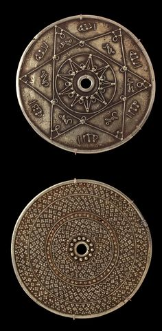 Indonesia | Pair of pendants; gold | Late 19th to early 20th century | Bugis people, South Sulawesi  || {GPA}