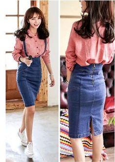 High Waist Denim Pinafore Skirt 2015 Women Sexy Work Wear Fashion Casual Denim Suspender Pencil Skirt Overalls With Split - http://www.freshinstyle.com/products/high-waist-denim-pinafore-skirt-2015-women-sexy-work-wear-fashion-casual-denim-suspender-pencil-skirt-overalls-with-split/