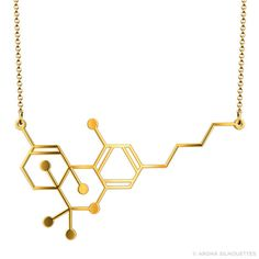 THC Molecule Necklace Stainless Steel by ArohaSilhouettes on Etsy