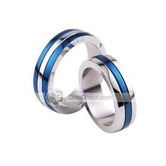 I like these titanium men's rings...very pretty! Could be worn as a wedding band set for man AND woman. I'd wear it!
