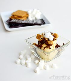 Layered ice cream s'mores: National S'mores Day is this weekend!!!