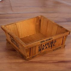 High Quality Storage Holder Wood Organizer Small Wooden Box Multifunction Storage Box Bonsai Flower Pot Wooden Organizer