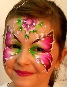 face paint butterfly olga meleca