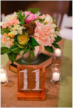 creative table numbers #wedding