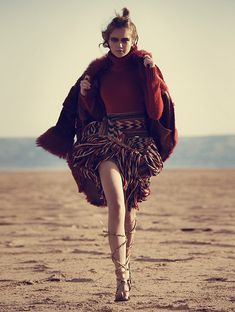 The January 2016 issue of Madame Figaro Spain wants you to channel your inner 'Mad Max' with this glossy editorial. Starring model Rosie Tupper, photographer Richard Ramos heads to the desert for a nomadic themed shoot. Wearing everything from fur coats to heavy knitwear looks, Rosie in queen of the desert in looks styled by …
