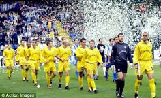 Leeds United walk out to play at Deportivo La Coruna in the Champions League quarter-final in 2001. The Deportivo boss had called Leeds the smallest club in the last eight but was made to eat his words when Leeds young lions put his team to the sword at Elland Road winning 3-0. In the second leg it was all hands to the pump as Deportivo battered Leeds but could only score twice so Leeds made it to the semi's where they played another Spanish team Valencia.