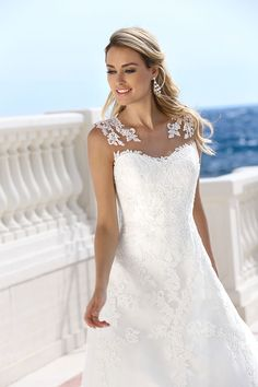 Wedding dresses by Ladybird Bridal are stylish, affordable and have the perfect fit. Also plussize sizes, vintage and bohemian bridal wedding dresses! Lace Wedding Dress, Wedding Dresses With Straps, Rustic Wedding Dresses, Perfect Wedding Dress, Wedding Party Dresses, Bridal Dresses, Bridesmaid Dresses, Illusion Neckline Dress, Engagement Dresses