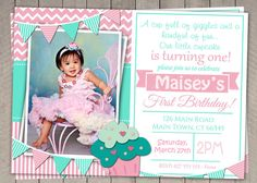 Hey, I found this really awesome Etsy listing at https://www.etsy.com/listing/185499532/girls-1st-birthday-invitation-printable