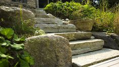These beautiful walls and features are built stone by stone, with no mortar used to cement the stones together. While the concept sounds intimidating to some, our specialized teams are well-versed in dry stone construction. Stone Steps, Aesthetic Look, Dry Stone, Landscape Services, Retaining Walls, Concrete Blocks, Side View, Stepping Stones, Exterior