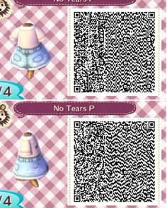 I decided that I would make a small series of the QR codes that I have found and accumulated over th Animal Crossing Memes, Animal Crossing Qr Codes Clothes, Acnl Paths, Motif Acnl, Ac New Leaf, Happy Home Designer, Animal Games, Forest Animals, Friends In Love