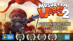 In Mushroom Wars 2, tribes of feisty mushrooms face off in short, action-packed real-time strategy battles