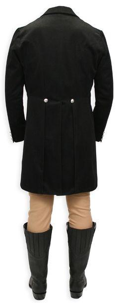 Regency Tailcoat - Black with Velvet Trim