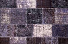 Vintage Patchwork Teppich - mozaiik Unikat Nr. 24TP