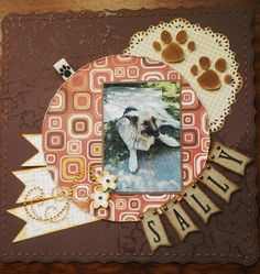 This layout was made as part of a challenge between myself, my cousin (Scrapjunki) and our mutual friend (Queen of pink). The challenge was to scrap what you dislike (Well i for one am not fond of scrapping my pets, my cousin doesn't like the color orange My Scrapbook, Sally, Orange Color, Decorative Plates, Layout, Pets, Frame, Picture Frame, Page Layout