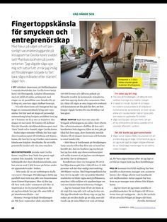 One full-page story in Swedish Entrepreneur Magazine, Oct 2016   Tidningen Entreprenör, nr 8 2016