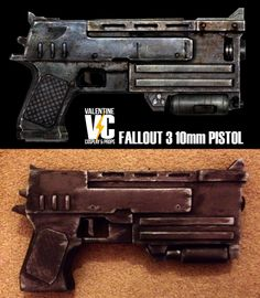 Reddit user AndyValentine's Fallout 3 10mm Pistol build.