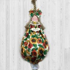 Kitchen decor plastic bag dispenser rustic country bag