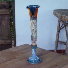 Hey, I found this really awesome Etsy listing at https://www.etsy.com/listing/237934061/wheel-thrown-pottery-vase-flower-vase
