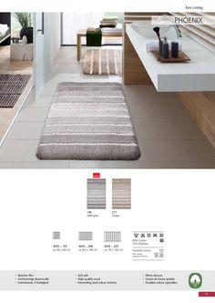 With this luxurious bath rug made of cotton and polyester mix it's like walking on clouds. Bath Rugs, Rug Making, Walking, Clouds, Luxury, Cotton, Home Decor, Decoration Home, Room Decor