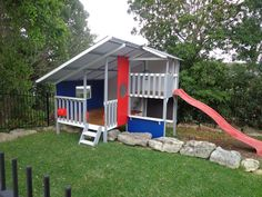 outdoor cubby house for kids. Outdoor play. Backyard fun