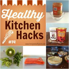 #HealthyKitchenHacks: How to Prevent Peanut Butter From Separating, Test Baking Powde & Baking Soda for Freshness, How To Make Mini Pies with Mason Jar lids, What to Do With Wilted Greens & Herbs, How to Cook Uneven Fish Fillets via teaspooonofspice.com