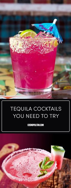 Tequila Cocktails - Recipes for Tequila Drinks #cocktails #tequila