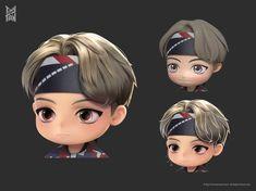 Daegu, Jimin, Bts Twt, Bts Chibi, V Taehyung, Cute Cartoon Wallpapers, Bts Pictures, Cool Bands, Kawaii