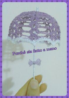 Ombrellino all'Uncinetto (BOMBONIERA) - Crochet Umbrella (Party Favor)