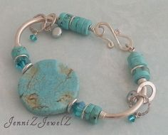 https://www.etsy.com/au/listing/228819339/turquoise-round-coin-bead-silver-tube bracelet