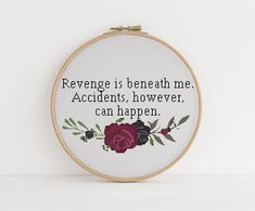 Revenge is beneath me cross stitch xstitch funny Insult pattern pdf