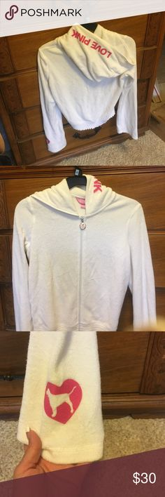 Pink hoodie Polyester/cotton size small PINK Victoria's Secret Tops Sweatshirts & Hoodies