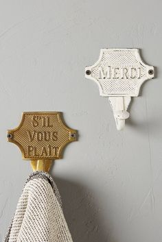 Don't overlook essential home hardware when decorating your home. Shop our carefully curated hardware selection at Anthropologie for fashionable finds. Coat Hooks On Wall, French Bathroom, Building Signs, Parisian Apartment, Home Hardware, Etiquette, Home Decor Inspiration, Decorating Your Home, Decorating Ideas