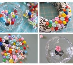 Craft Resin Flower Cabochons | andRuby