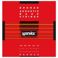 Warwick Red Bronze Acoustic Bass Strings 5 Long Set of five bronze bass strings for acoustic bass