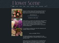 Flower Scene Florist in Launceston Cornwall before we developed their new website.