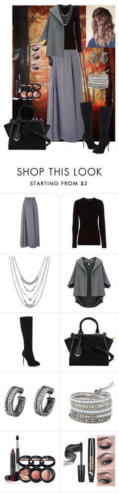 """""""Untitled #559"""" by armsdani ❤ liked on Polyvore featuring Phase Eight, rag & bone, Lucky Brand, Jimmy Choo, Fendi and Laura Geller"""