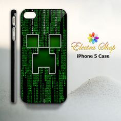 iPhone 5 Hard Case Minecraft creeper Face in by ElectraShop