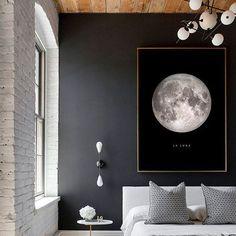 Tête de lit mur noir - Côté Maison