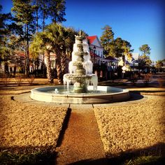"""Frozen fountain at the Parkside neighborhood at Mayfaire, Wilmington, NC  """"For with thee is the fountain of life: in thy light shall we see light"""" (Psalm 36:9)"""