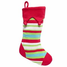 Cute Striped Stocking for Christmas! $20