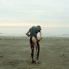 Sludge on the beach Stephen Hawking, Body Painting Men, Adam Parrish, Sleep Forever, Mode Costume, Oil Spill, Fine Art Photography, Narrative Photography, Timeless Photography