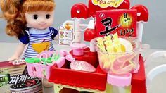Baby Doll Food Cart Baby Cooking Toys and Kitchen Playset Toys Videos fo...