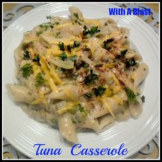 With A Blast - Quick Tuna Casserole Maybe my kids would eat it, worth a try! Great Recipes, Dinner Recipes, Favorite Recipes, Healthy Recipes, Healthy Meals, Yummy Recipes, Tuna Casserole Recipes, Bean Casserole, Kitchens