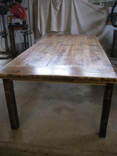 Reclaimed Lumber Harvest table - Wood For Life