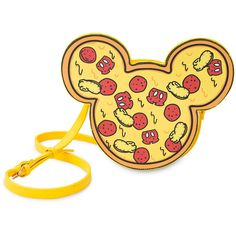 Mickey Mouse Pizza Crossbody Bag by Cakeworthy ($60) ❤ liked on Polyvore featuring bags, handbags, shoulder bags, yellow purse, yellow crossbody purse, yellow crossbody, crossbody purse and yellow handbags