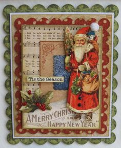 Graphic 45 Christmas card.