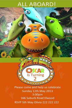 dinosaur train birthday invitation by wonderstruckprints on etsy, Birthday invitations