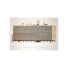 Unite d'Habitation, Marseille by Le Corbusier Print #dwellshop #affordableart #affordableartprints