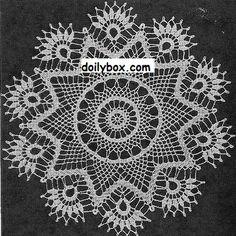 Free Crochet Patterns Cluster Doily Pattern örtü dantel örnekleri